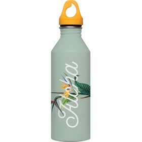 MIZU M8 Bottle with Lt Orange Loop Cap 800ml Aloha Glossy Mint